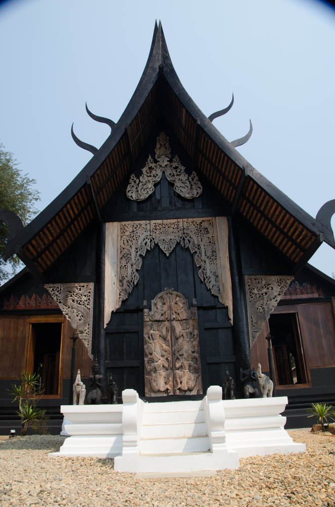 the black house in chiang rai seen from the outside