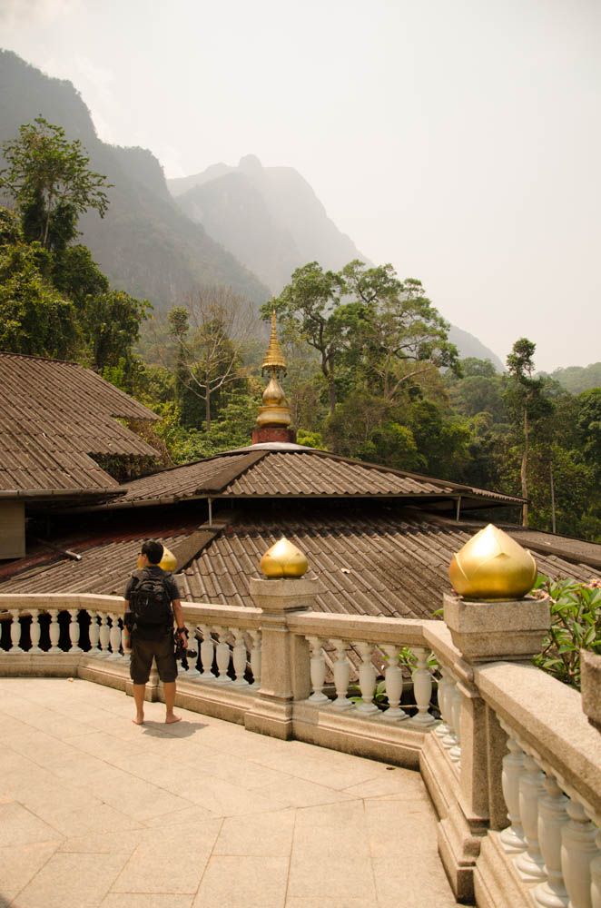 a viewing point on wat po ploy in chiang dao, thailand