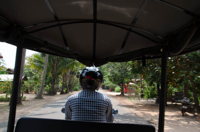 Riding through the bumpy and dusty streets