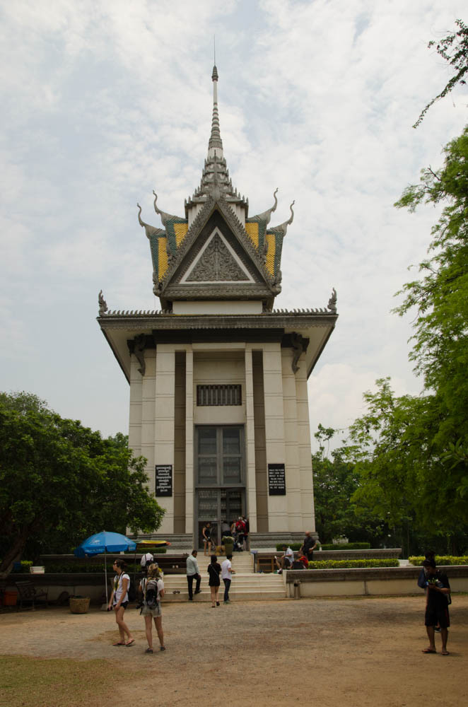The temple, where bones of the victims are kept