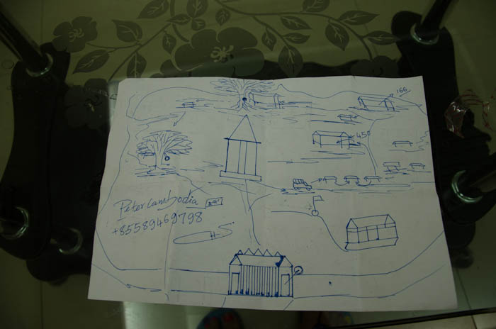 The map Peter drew for me
