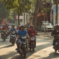Motorbike traffic in Saigon