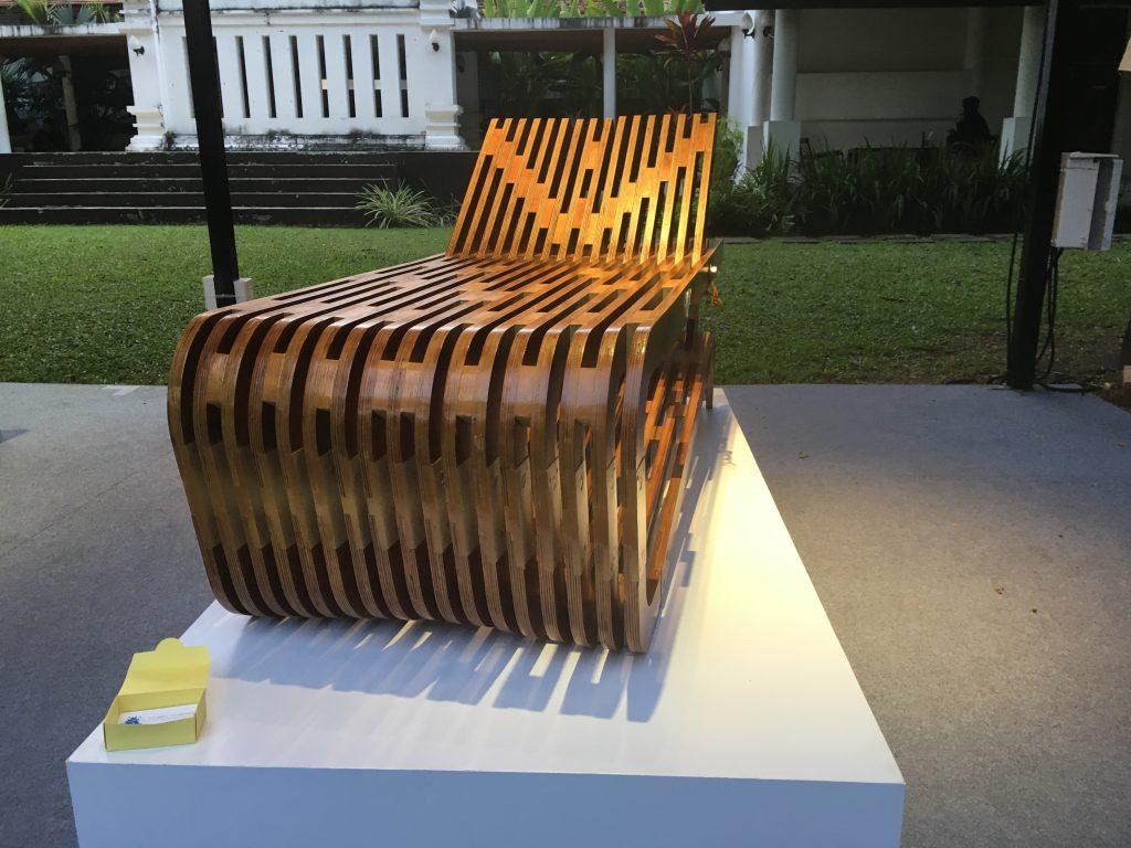 Drewniany leżak, Chiang Mai Design Week