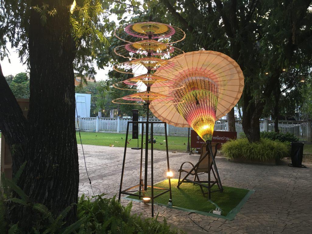 Kolorowe parasolki, Chiang Mai Design Week