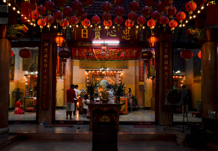 The local Chinese temple was full of worshippers