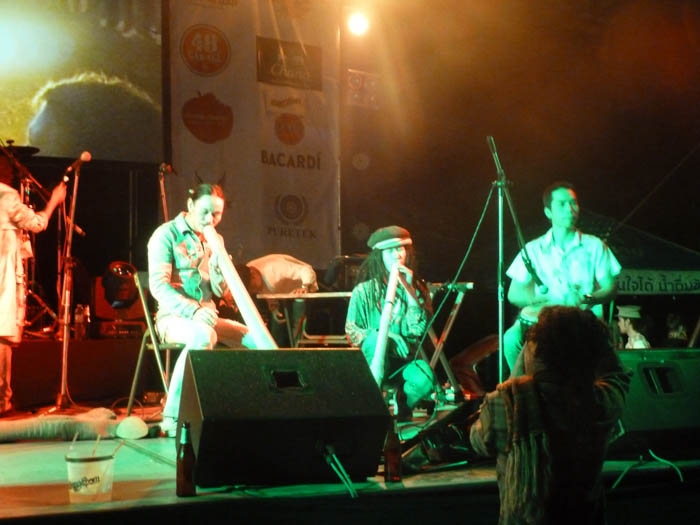 One of the performances at the Smile Party in Chiang Mai