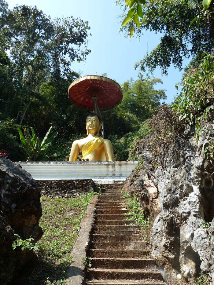 Buddha statue, located behind the Chiang Dao Cave