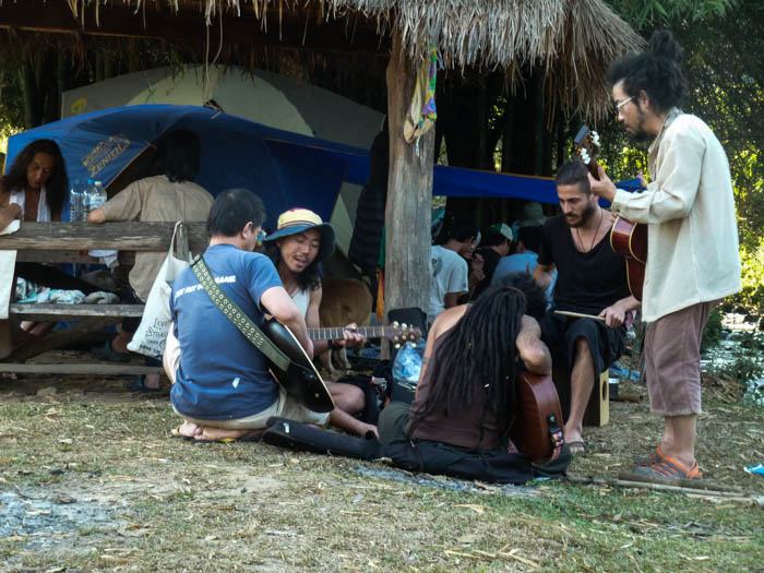 A jamming session at the Shambala in Your Heart Festival in Chiang Dao