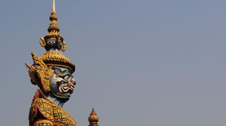 Statue at Grand Palace in Bangkok