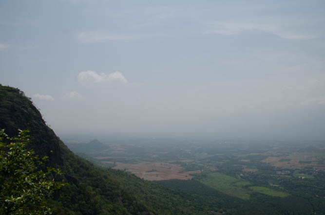 The view point, overlooking the border between Kerala and Tamilnadu