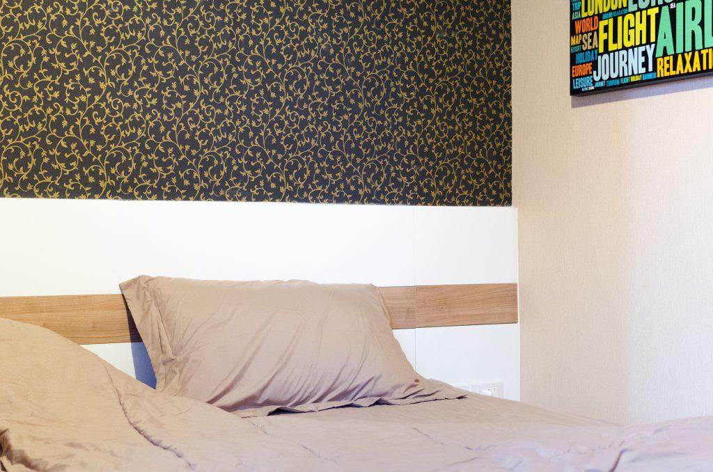 Mieszkanie w Chiang Mai sypialnia łóżko