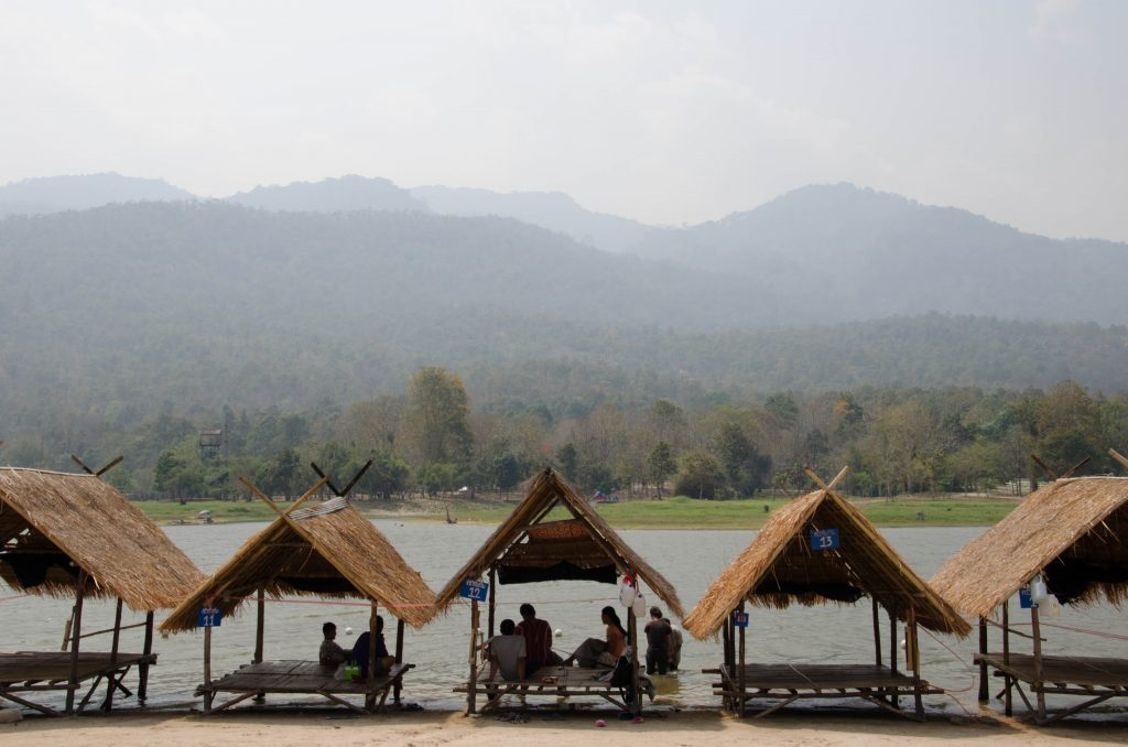 Huts at Huay Tung Tao Lake, Chiang Mai