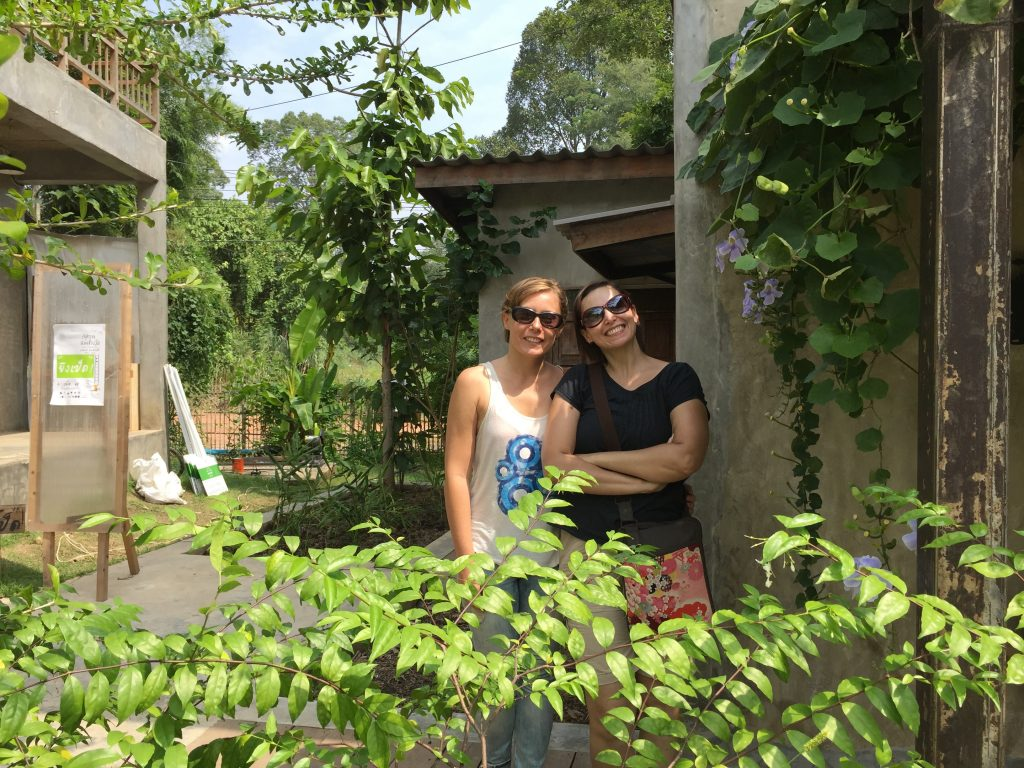 Joanna and Cel at Baan Kang Wat Artist Village in Chiang Mai