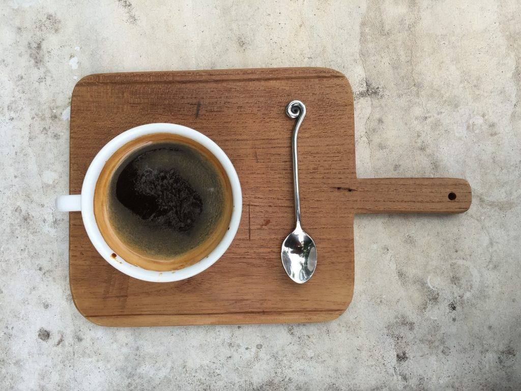 Beautifully served coffee at The Old Chiang Mai Espresso Bar