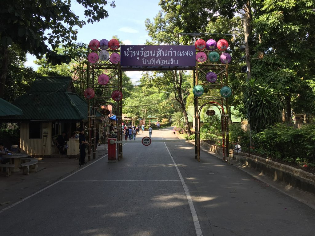 Entrance to the San Kamphaeng Hot Springs