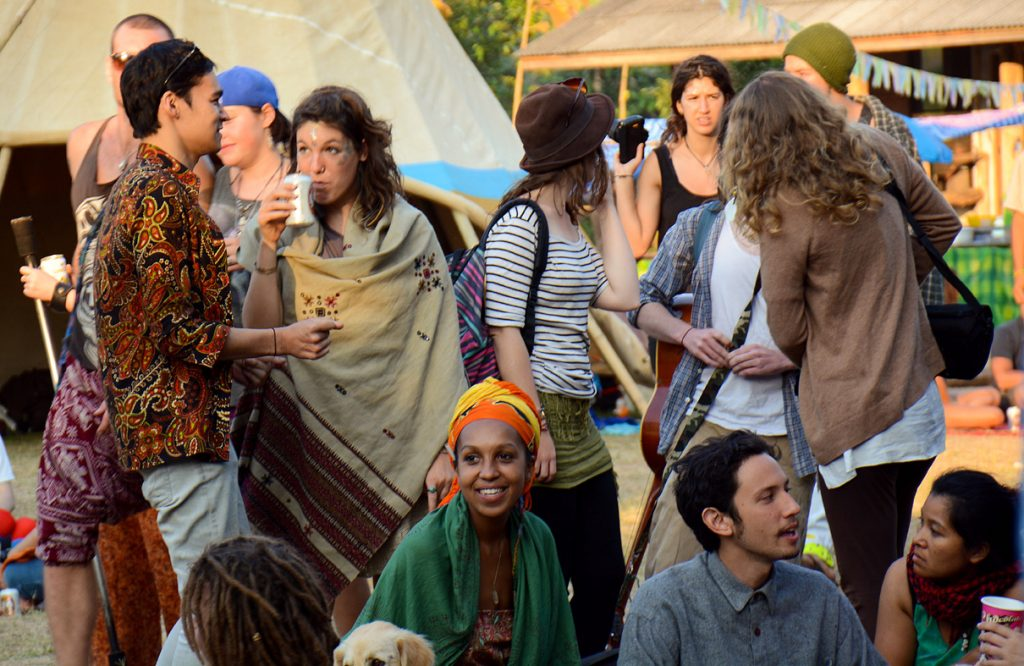 Group of people at Shambhala Festival in Chiang Dao