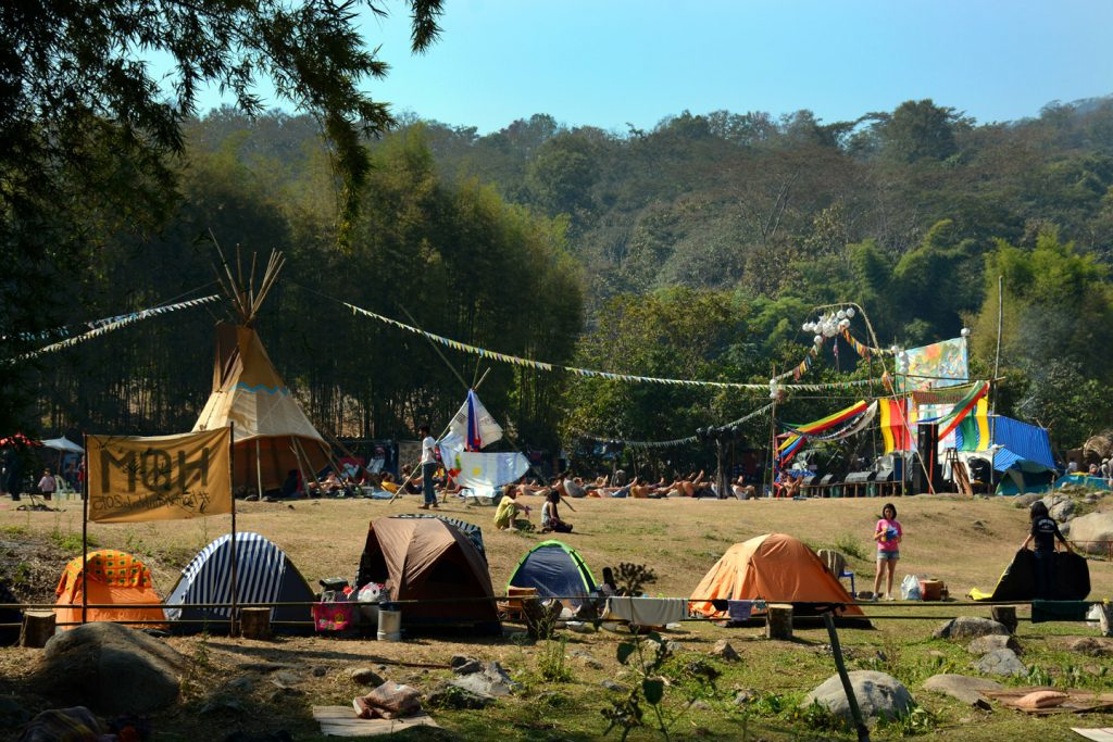 The premises of Shambhala in Your Heart Festival at the Chiang Dao Youth Camp