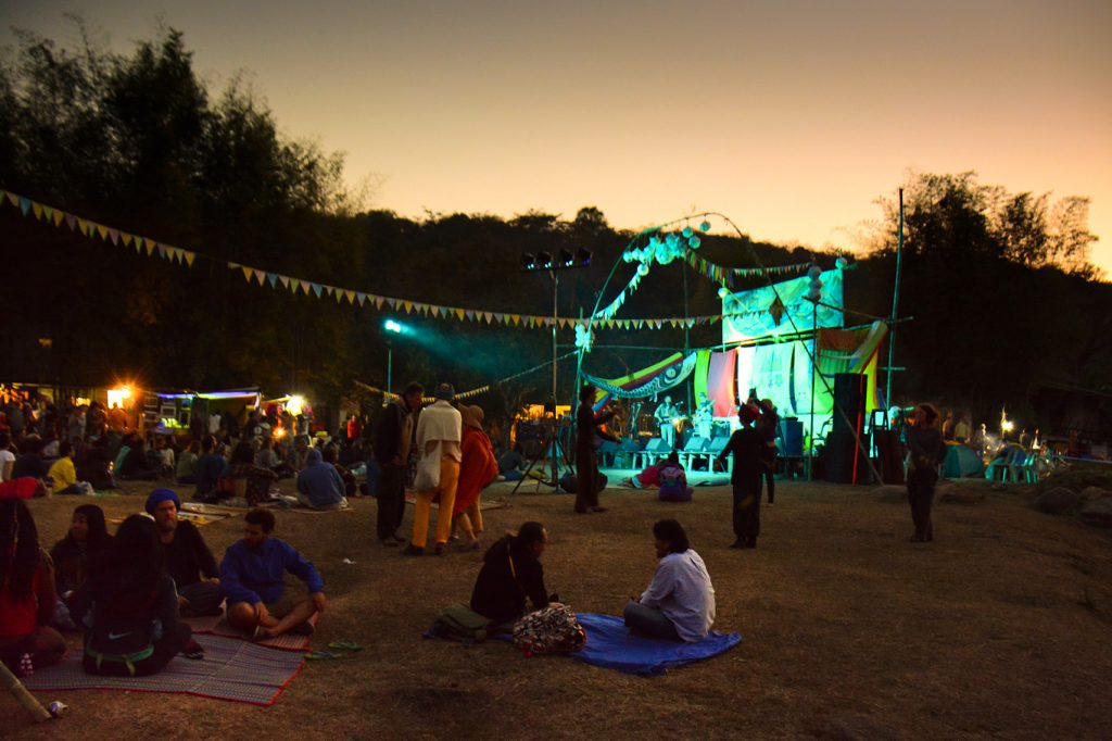 People enjoying the music at Shambhala in Your Heart Festival