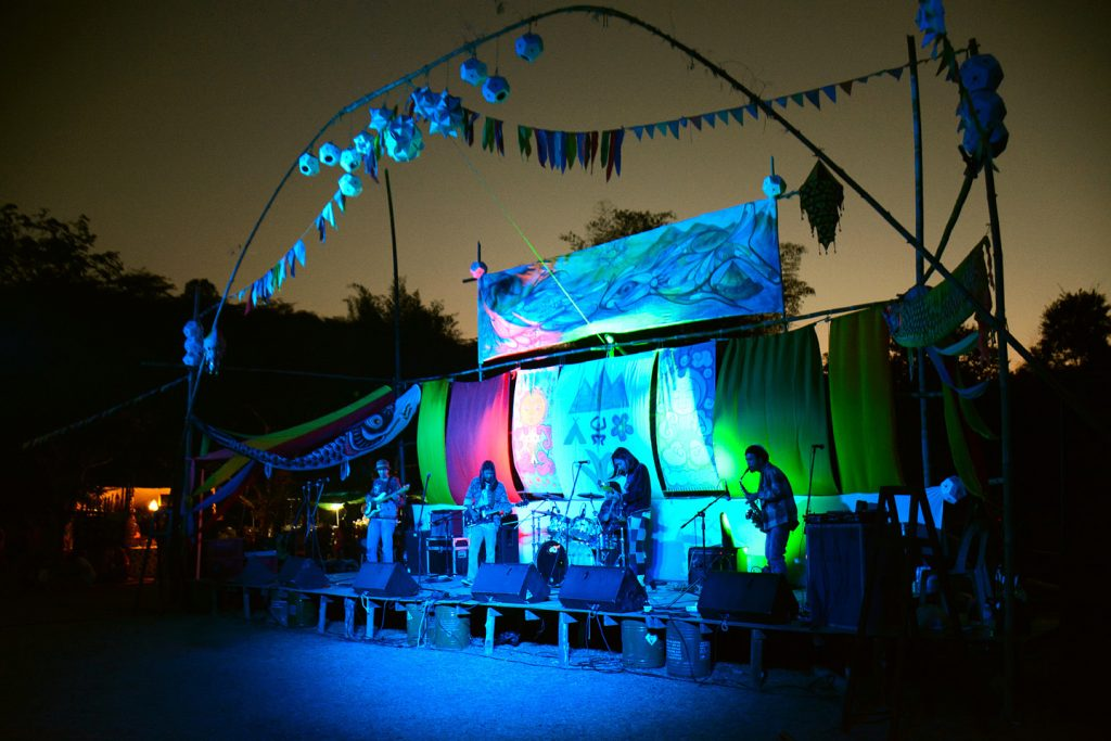 Band playing at the stage at Shambhala in your Heart Festival