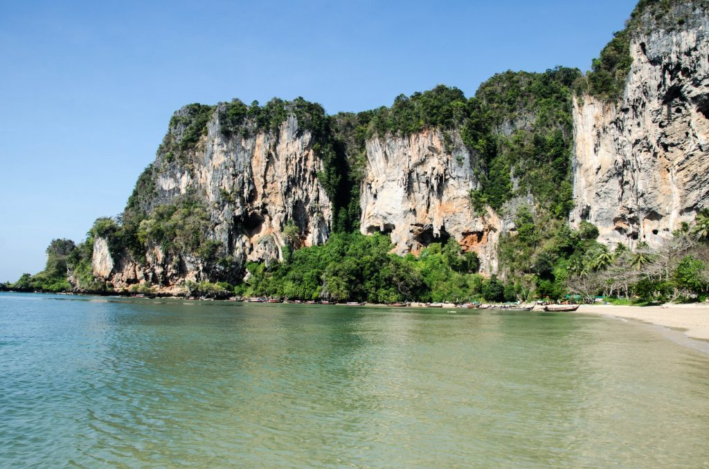 Tonsai is more relaxed and less crowded than Railay West