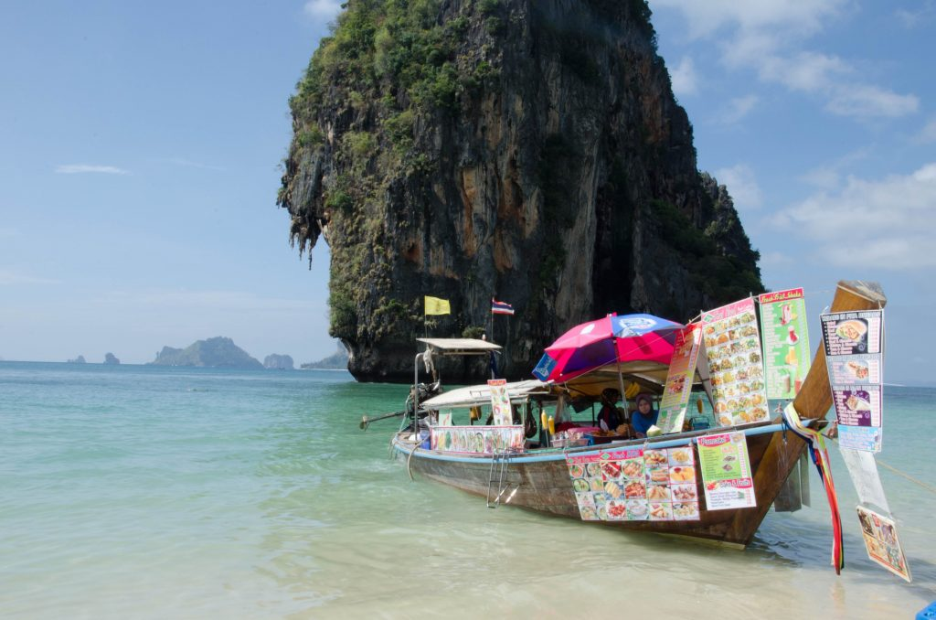 There's food everywhere on Railay and Phra Nang, but the quality is not great