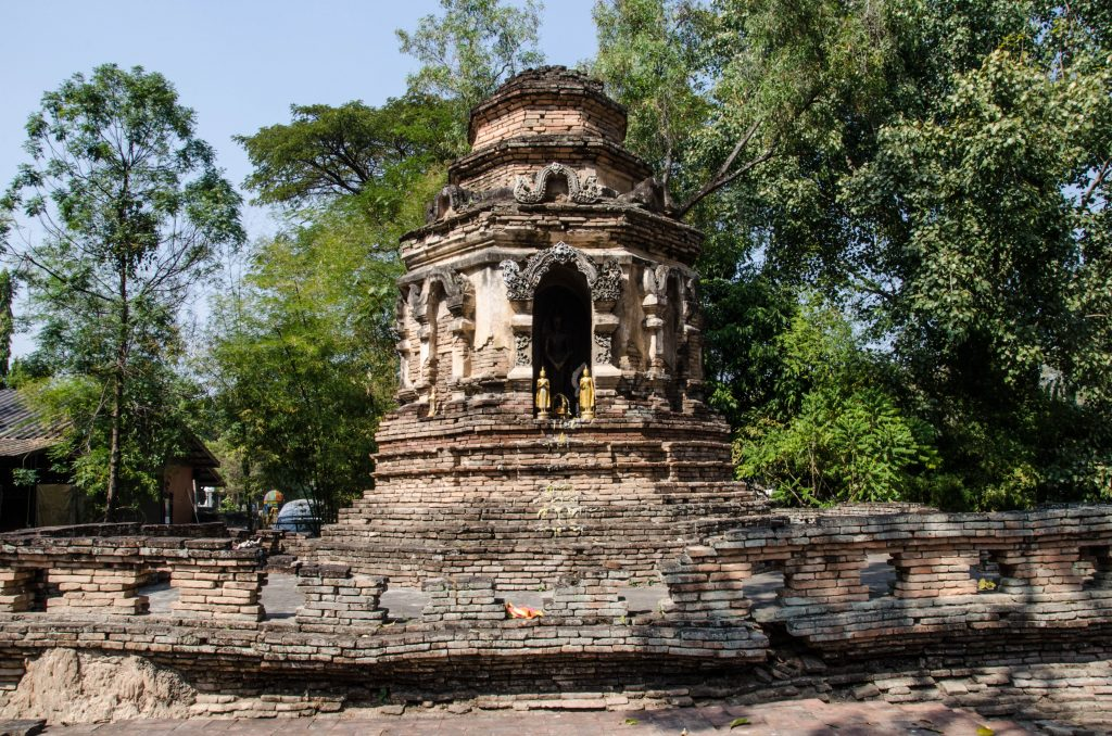 A chedi at Wat Jed Yod