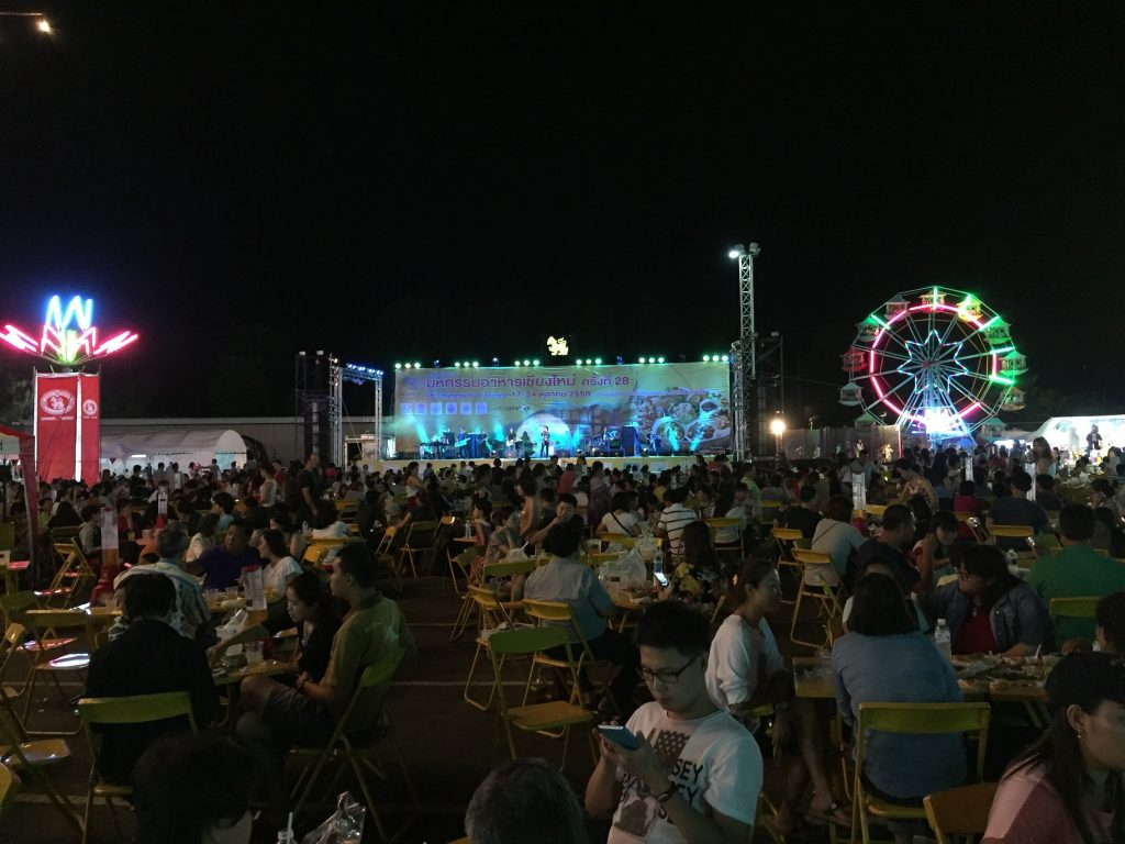 View of the stage at the annual Chiang Mai Food Festival