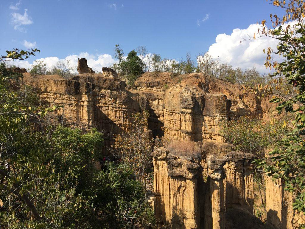 Kanion Pha Chor widziany z punktu widokowego