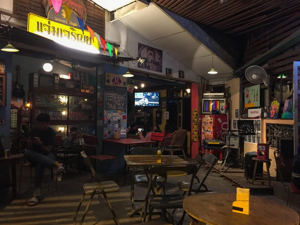 Interior of the Vintage Chiang Mai bar
