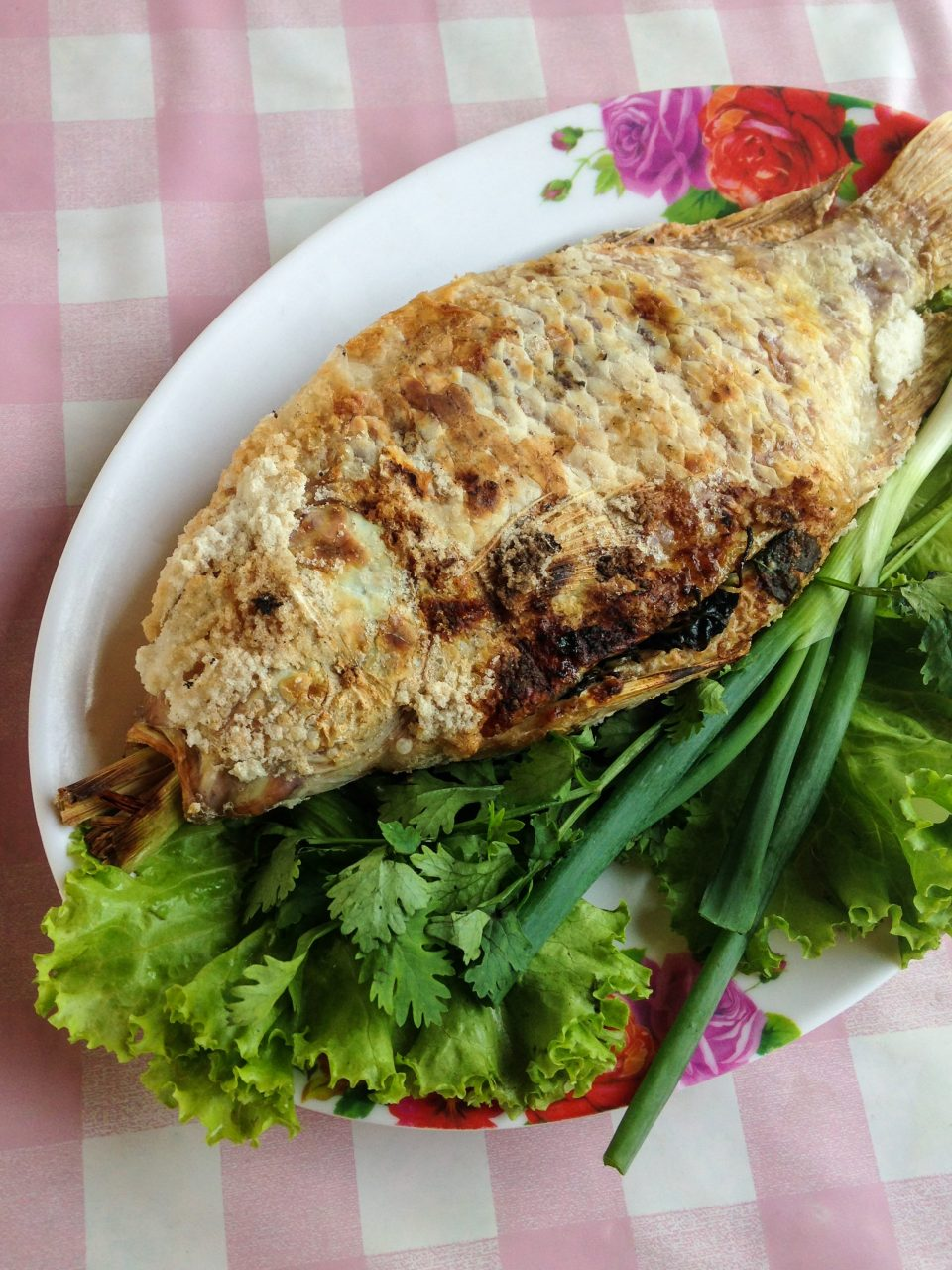 Grilled Tilapia at Huay Tung Tao Lake in Chiang Mai