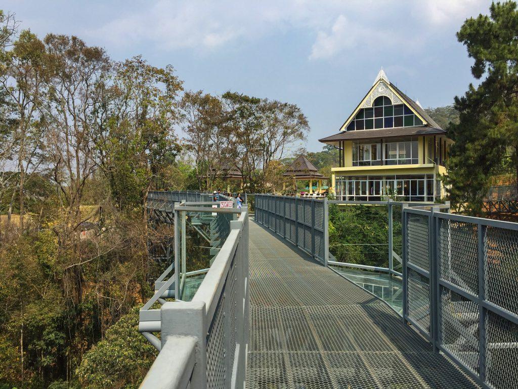 Canopy walkway at Queen Sirikit Botanic Garden in Chiang Mai