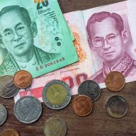 Thai Currency: Bills and coins