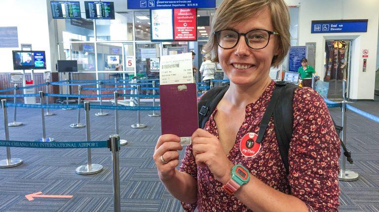Joanna at Chiang Mai International Airport