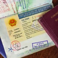 Vietnamese visa in passport