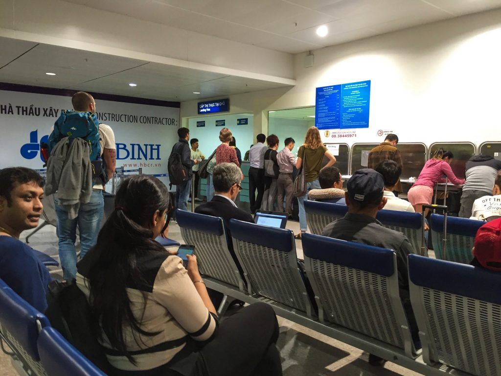 Landing visa counter at Ho Chi Minh City Airport