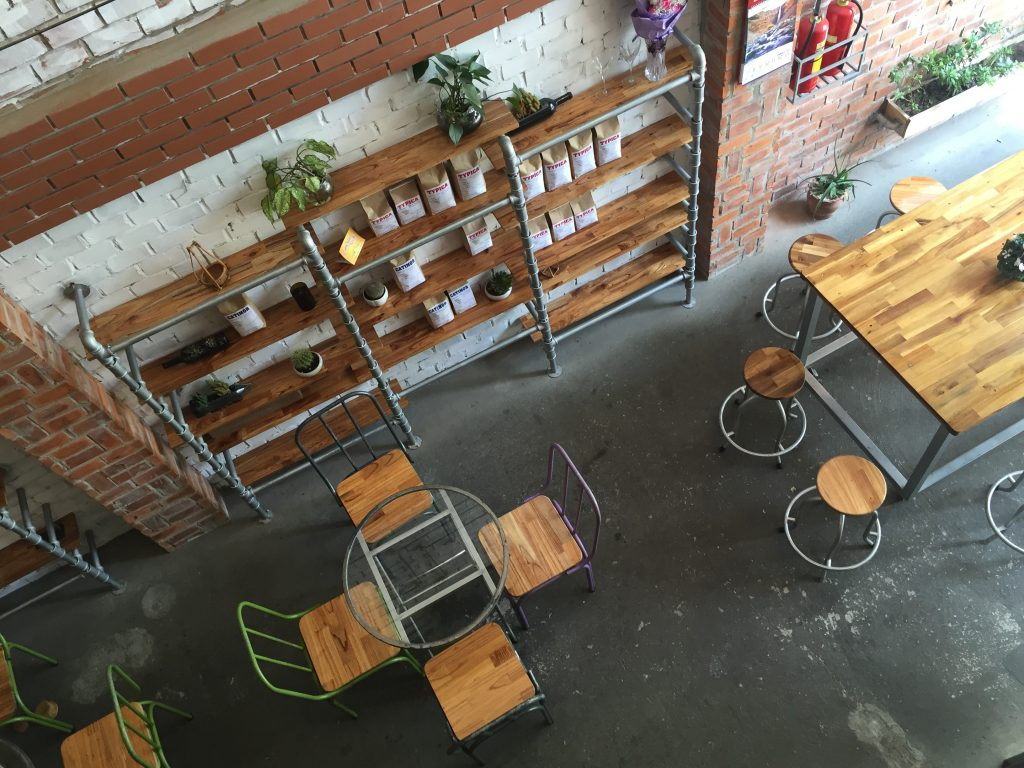 View from the second floor of Mia Coffee Roastery