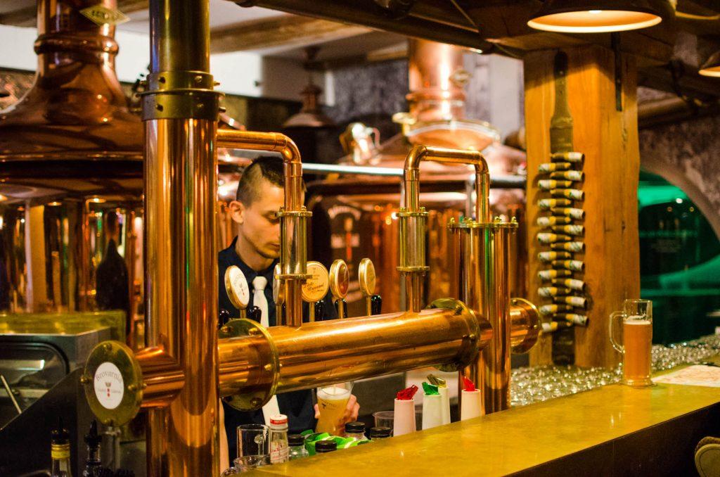 Brovarnia Gdańsk beer taps
