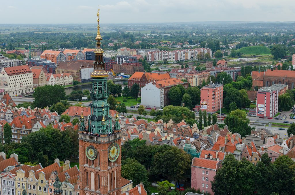 Panorama view of Gdańsk