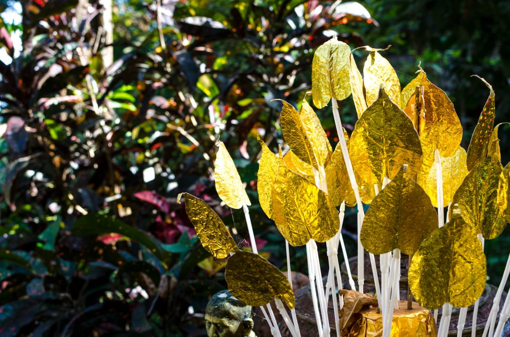 Wat Pha Lat temple, Chiang Mai, golden leaves