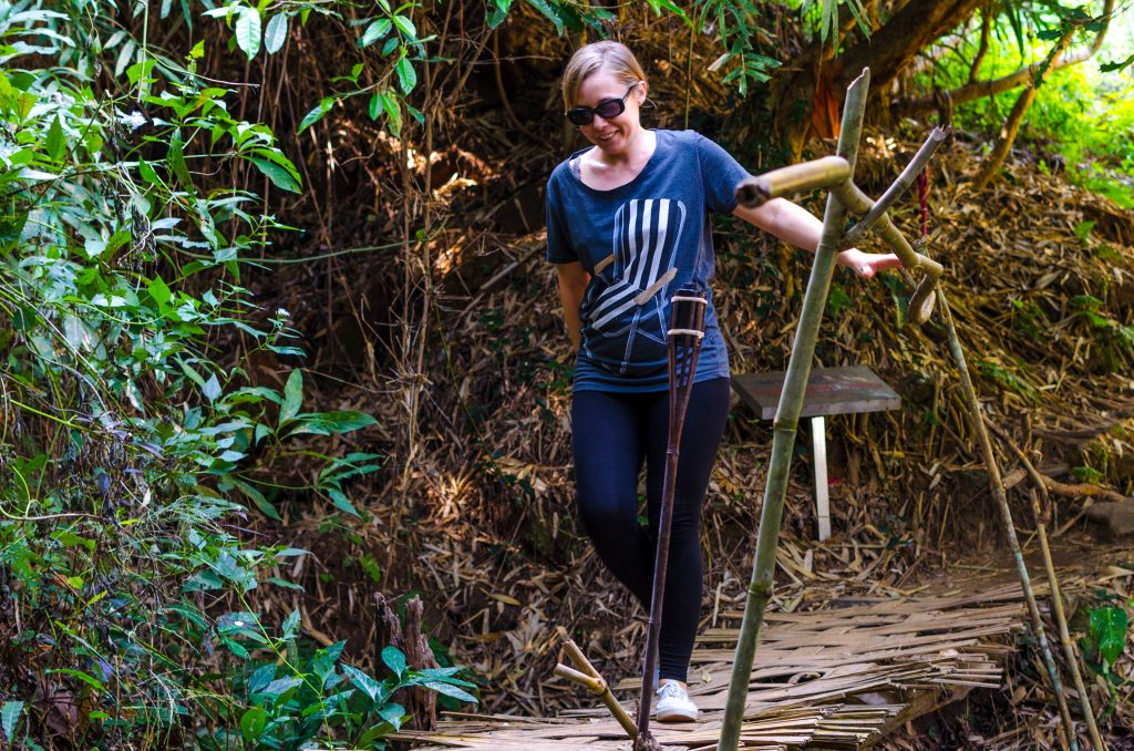 trekking to Wat Pha Lat temple in Chiang Mai