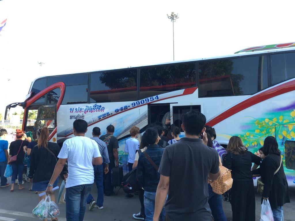 Autobus z Tajlandii do Laosu