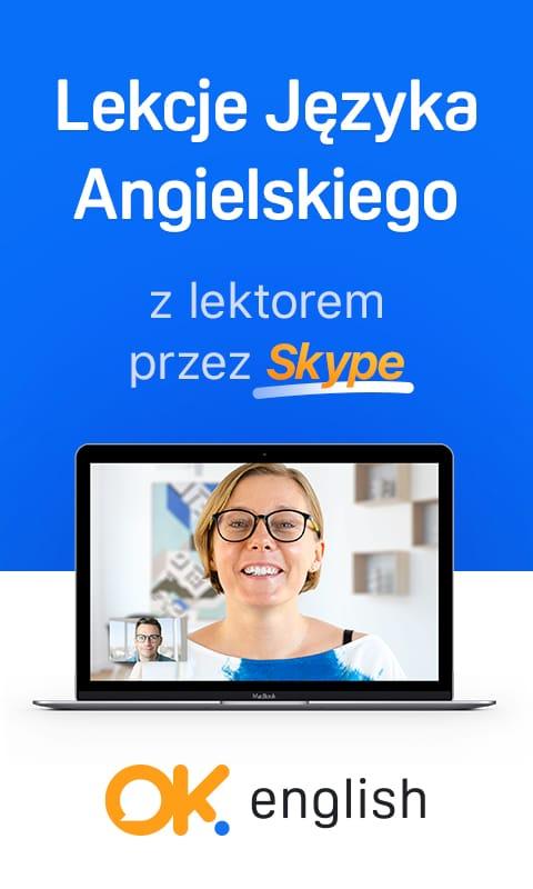 Lekcje języka angielskiego z lektorem przez Skype