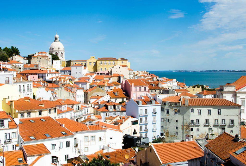 Lizbona Portugalia widziana z góry