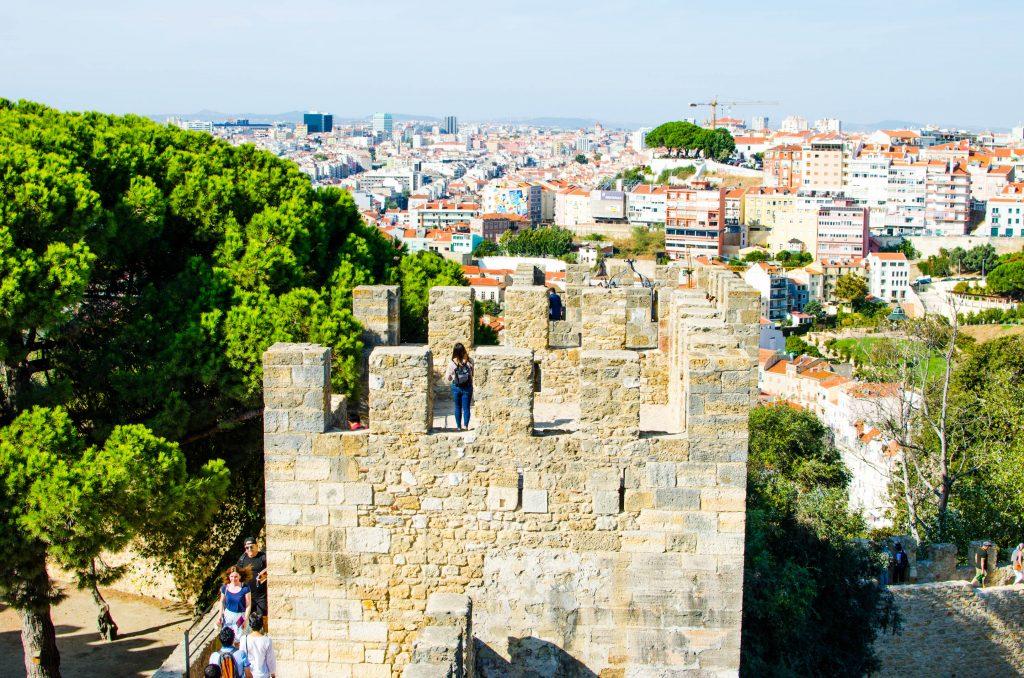 baszta zamku świętego jerzego w lizbonie
