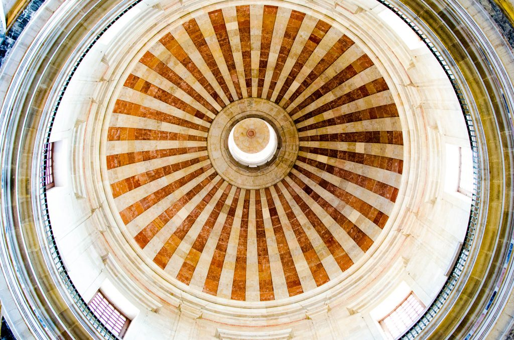 the ceiling of the pantheon in lisbon