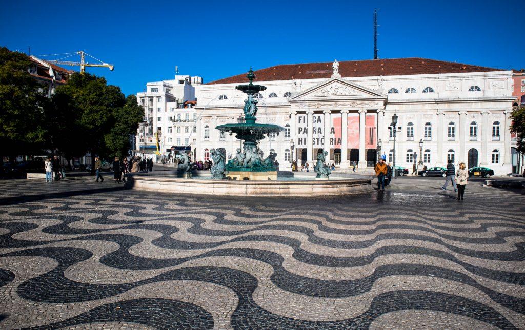 fontanna na placu rossio