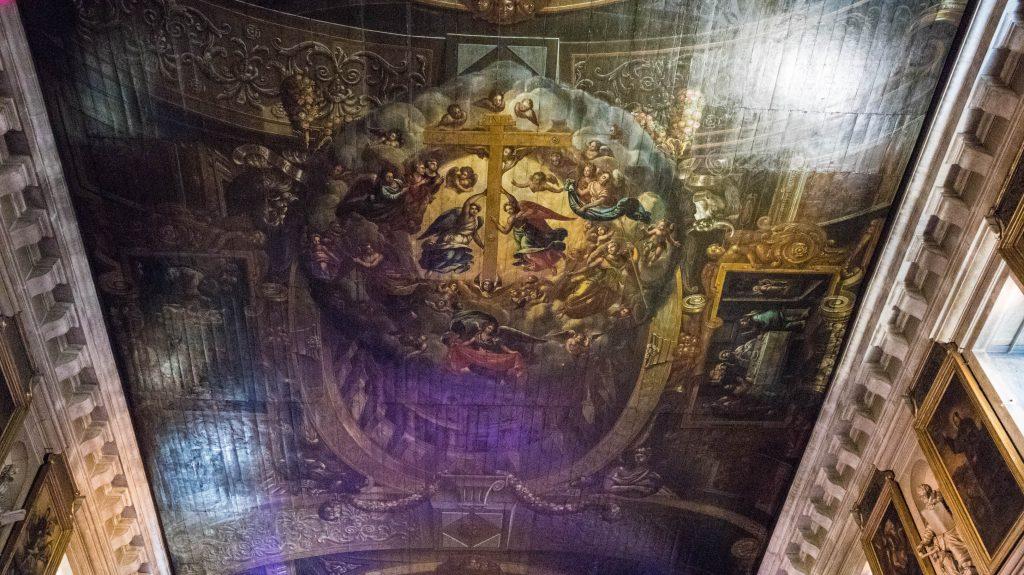 sufit kościoła w lizbonie