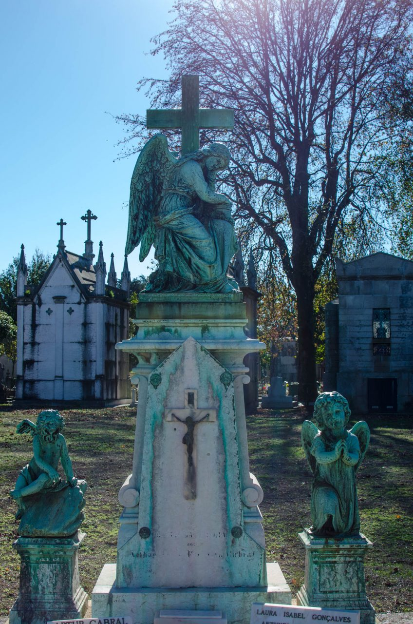 grave at the cemetery in porto