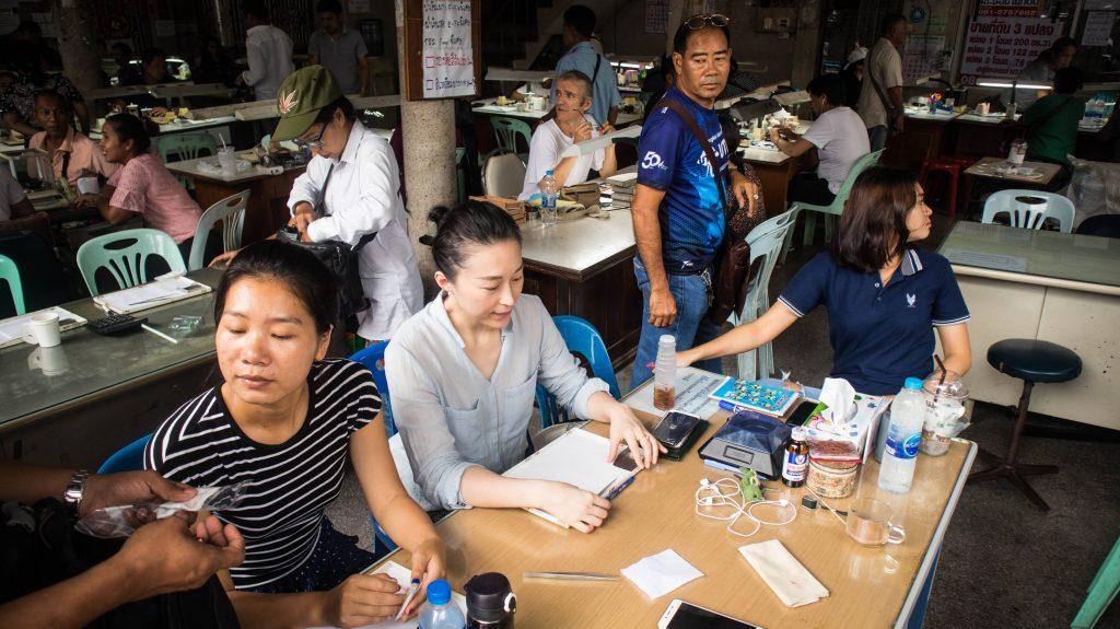 gems traders in chanthaburi, thailand