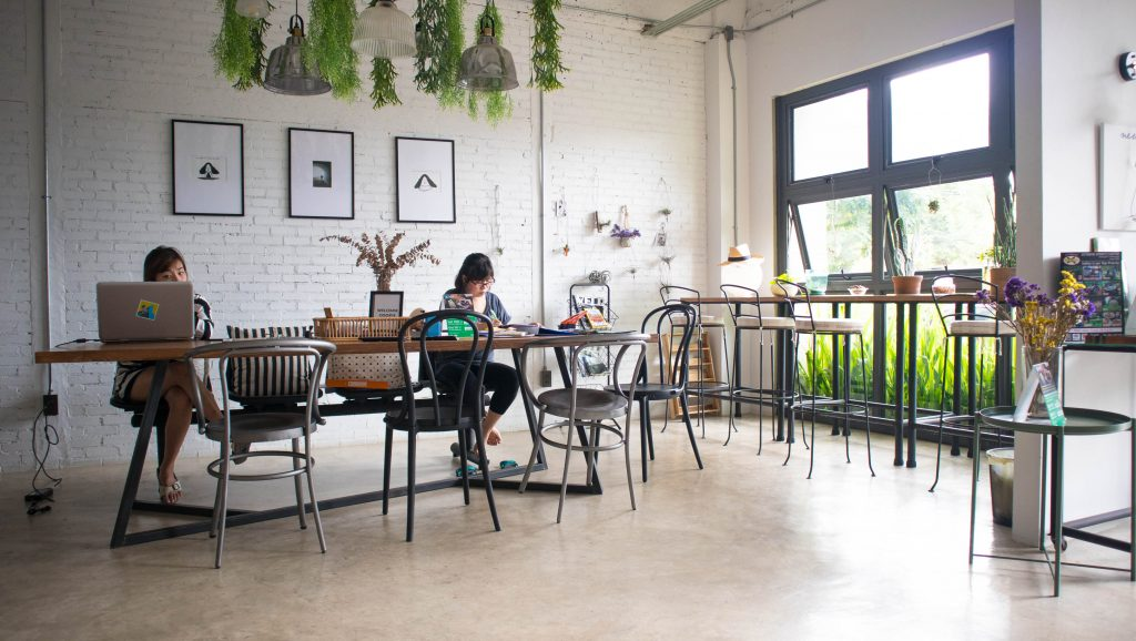 people working at coworking space in 51 hometel, chiang mai